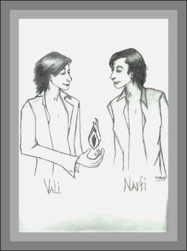 En 2003, un nouveau satellite a été découvert ; les scientifiques l'ont nommé Narvi, un des fils de Loki et Sigyn. Qui n'est pas un demi-frère de Narfi ?