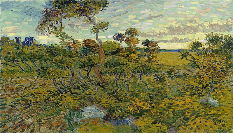 C'est Gauguin, un dieu de la peinture, qui peignit les célèbres soleils des jardins.