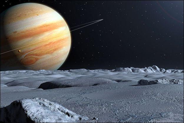 La planète Jupiter a approximativement la forme d'une boule de rayon R.Quel est le volume de Jupiter ?