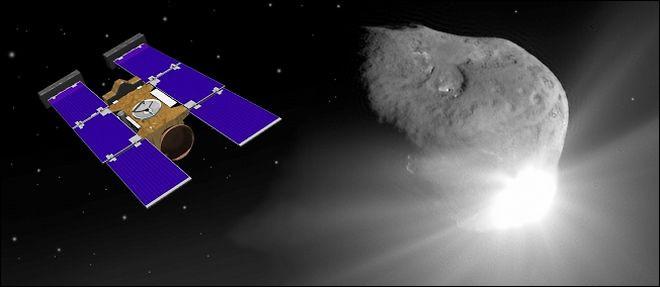 La sonde spatiale Stardust possède deux panneaux solaires de la forme d'un rectangle de longueur L et de largeur l chacun.Quel est le périmètre d'un panneau solaire de Stardust ?
