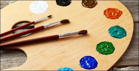 """Catégorie : arts plastiques (oui, il y a un """"S"""" à la fin, car on dit : """"les arts plastiques"""")Lorsqu'on mélange du jaune et du bleu, ça donne quoi ?"""