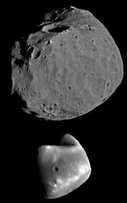 Comment se nomment les deux satellites naturels de la planète Mars ?
