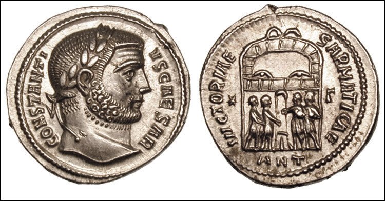 En effet, contenues sous les empereurs Aurélien et Probus, les rebellions reprennent sous Dioclétien (296). Son successeur, Constance [...lequel ?], réduit des Francs, Saxons et Frisons qui deviennent ... (Complétez !)