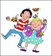 Cette bande dessinée parle de deux frère et sœur qui s'amusent à leurs façons chez eux. Il s'agit de :