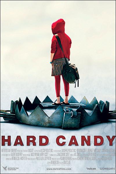 """Le 27 > 2006 : Sortie en France du film """"Hard Candy"""" [...en français ?], qui aborde un sujet dur, [...lequel ?], mais réussit à en faire un film d'émancipation, où une jeune fille reprend le contrôle et se venge."""