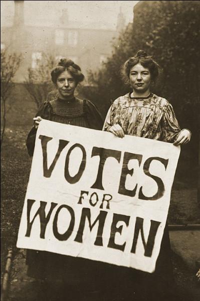 Le 13 > 1879 : Naissance d'Annie Kenney, membre du WSPU (Union sociale et politique des femmes) et une des rares suffragistes britanniques ... (Complétez !)