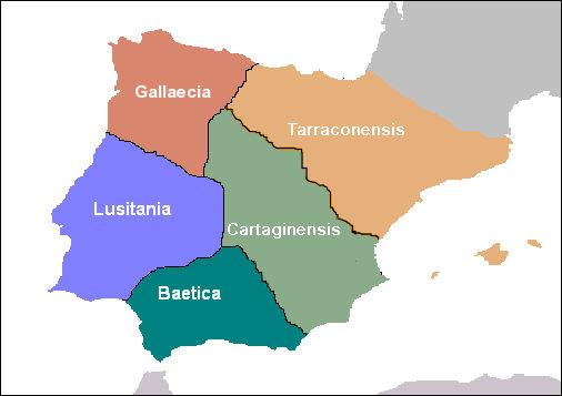 """Jusqu'au IVe s., les révoltes """"bagaudes"""" comme les invasions germaniques - hormis celle [...de quelle tribu ?] jusqu'à Tarragone en 258 - épargnent l'Hispania romaine."""