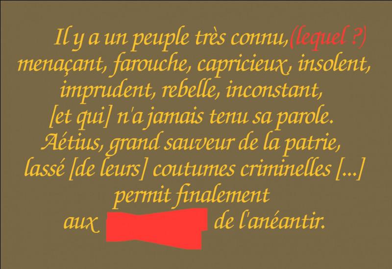"""Heiric d'Auxerre, moine bénédictin du IXe s. relatera l'époque, faisant la part belle aux """"princes"""". Mais quel peuple dénigre-t-il ainsi et quel autre est chargé de les """"anéantir"""" ?"""