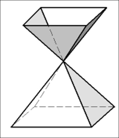 C'est un cône pyramidal.