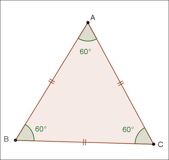 C'est un triangle isocèle.