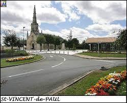 Commune de l'Entre-deux-Mers, dans la métropole Bordelaise, Saint-Vincent-de-Paul se situe dans le département ...