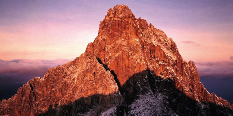 Lequel de ces sommets est le deuxième plus haut d'Afrique après le Kilimandjaro (5 891 mètres) ?