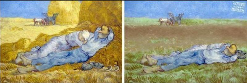 """Sachant qu'un tableau de Van Gogh coûte déjà très cher, combien vaudrait-il """"sans gluten"""" (comme celui de droite), au cours de la mode d'aujourd'hui ?"""