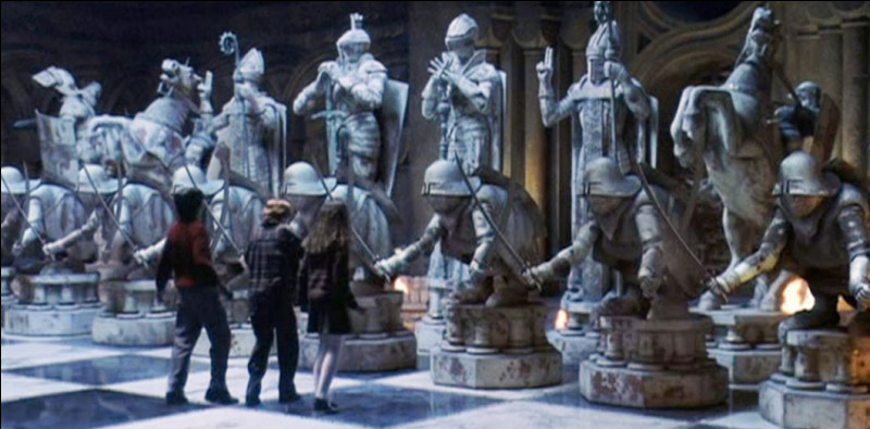 Sélectionne le rôle de Harry Potter lors de la partie d'échecs.