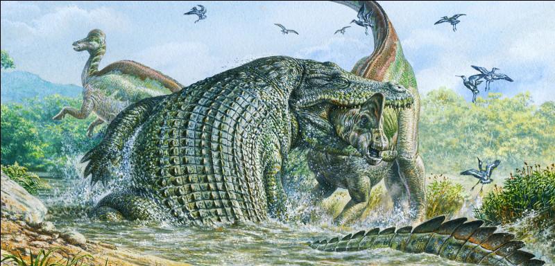 Le reptile précédent ne fait pas le poids avec celui-là qui faisait 15 m de long. C'est un...