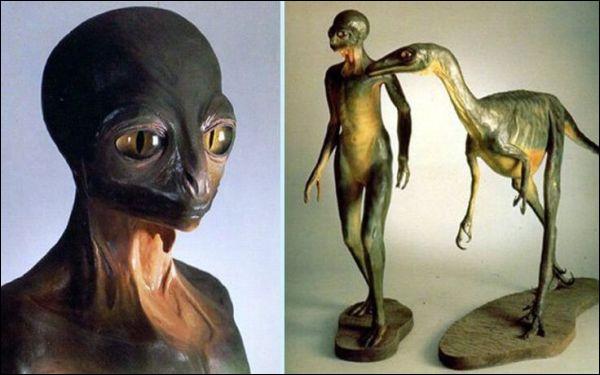 En 1982 il fait réaliser par un artiste, Ron Seguin, une sculpture de dinosauroïde. Selon lui une espèce de dinosaure aurait pu prendre la place de l'homme si elle n'avait pas disparu. Il s'agit du :
