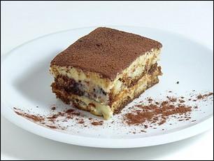 Quel est ce dessert italien réalisé à base de café et de cacao en poudre ?