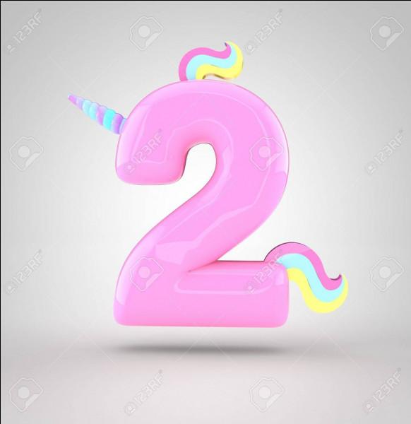 Comment s'écrit le chiffre 2 ?