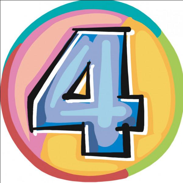 Comment s'écrit le chiffre 4 ?
