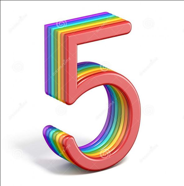 Comme s'écrit le chiffre 5 ?