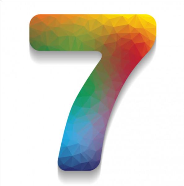 Comment s'écrit le chiffre 7 ?