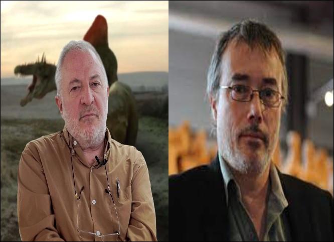 Pour terminer voici 2 paléontologues français auteurs de livres sur les dinosaures et sur l'histoire de la paléontologie. Il s'agit de :