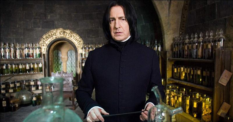Quelle matière Harry doit-il pratiquer avec le professeur Rogue ?