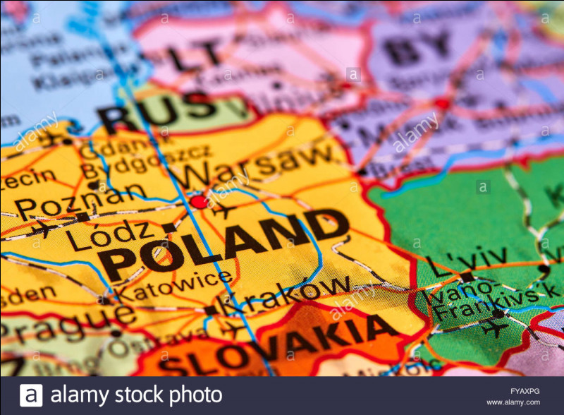 La capitale de la Pologne est...