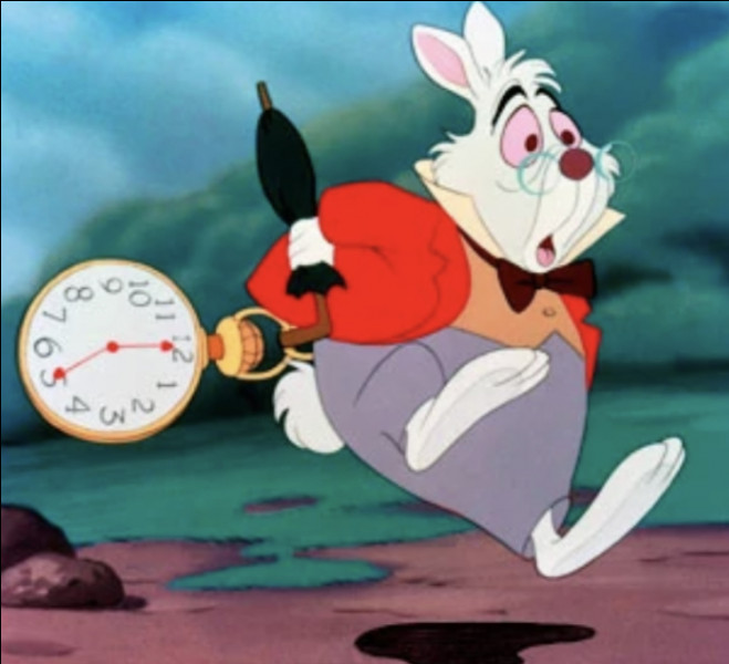Voilà un lapin qui semble bien pressé, de quel Disney vient-il ?