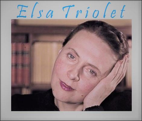 Femme de lettres et résistante, Elsa Triolet épouse et muse de Louis Aragon, fut la première femme à...