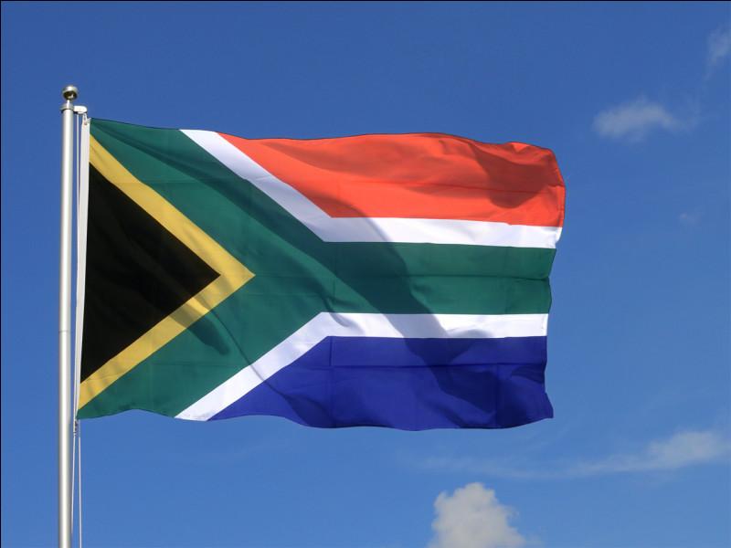 Un petit dernier, situé à l'extrémité australe du continent africain, sa capitale est Pretoria, sa population est de 59,3 millions d'habitants (2020). À quel pays appartient ce drapeau ?