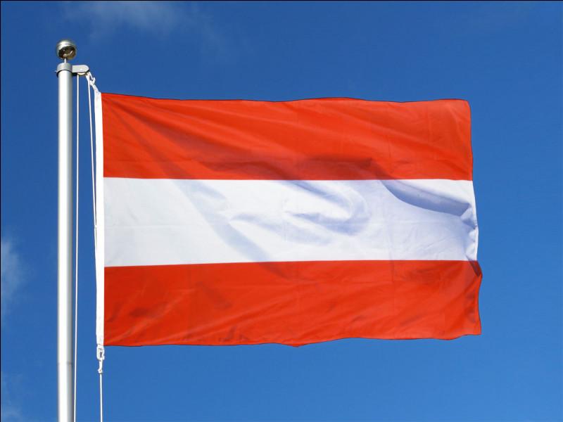 """Sa langue officielle est l'allemand, et ce pays, en allemand se dit """"Österreich"""". Il est membre de l'Union européenne et de la zone euro depuis 1995 et 1999. Sa capitale est Vienne. Quel pays représente ce drapeau ?"""