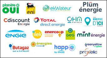 """Parmi ces fournisseurs d'énergies, quels sont ceux qui fournissent à 90% de l'énergie """"verte"""" (origine renouvelable) ?"""