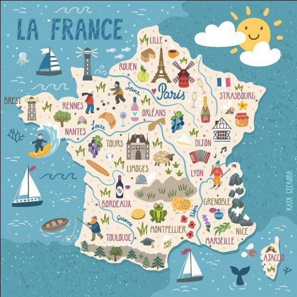 Comment appelle-t-on la France à cause de sa forme géométrique ?