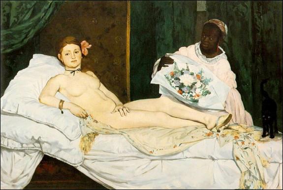 """Où se cache le chat dans le célèbre tableau """"Olympia"""" de Manet ?"""