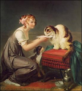 Cette peintre de la fin du XVIIIe siècle a travaillé des scènes d'intérieur avec de sublimes drapés. Quel est son nom ?