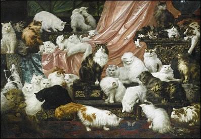 Quel est le titre de ce tableau réalisé par l'artiste autrichien Carl Kahler (1856-1906), spécialisé en peinture animalière ?