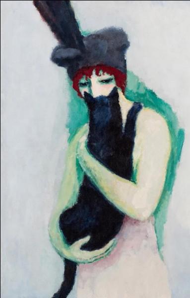 """Qui est le peintre fauviste ayant réalisé cette """"Femme avec chat"""" ?"""