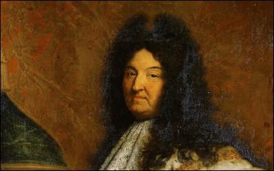 Ce 1er septembre, Louis XIV meurt à Versailles après un très long règne : en quelle année était-ce ?