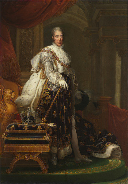 Après la restauration de la monarchie, le 16 septembre 1824, un nouveau roi monte sur le trône : il s'agit de ...