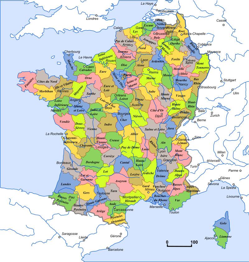 Les Départements de la France révolutionnaire