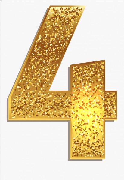 """Et maintenant, le chiffre """"4"""", comment se dit-il ?"""