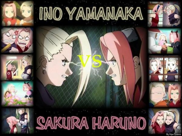 Pour quel garçon se dispute Ino et sakura