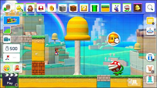 Comment s'appelle le Mario où on peut créer des niveaux ?