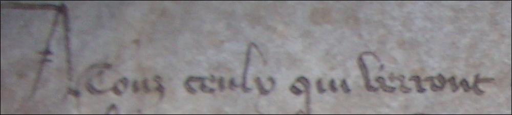 Retrouvez la bonne retranscription de cette phrase écrite en ancien français.