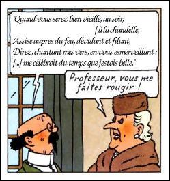 """Tournesol n'y va pas par quatre chemins en s'attaquant au """"Prince des Poètes"""", j'ai nommé ... (Continuez !)"""