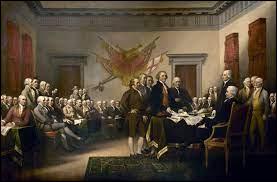 La Déclaration d'Indépendance des États-Unis se fait en...