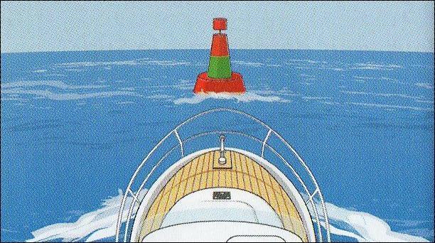 Dans chenal d'accès à un port, vous rencontrez cette balise. Où se situe le chenal préféré ?
