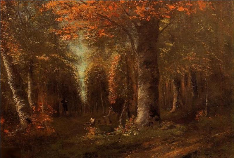 """Quel peintre réaliste français a réalisé """"Forêt en automne"""" ?"""