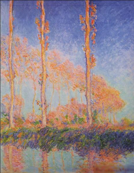 """Qui a peint """"Trois abres roses, automne"""" ?"""